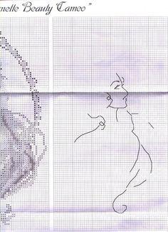 Cross-stitch Blonde & Brunette Lovely Cameos, part 5...  color chart on part 1...   Solo Patrones Punto Cruz (pág. 1435) | Aprender manualidades es facilisimo.com