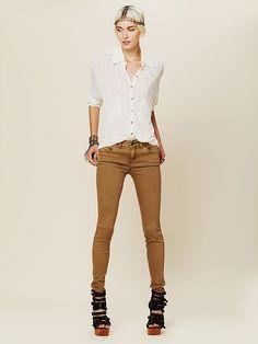 Free People Colored Skinny Jean, $68.00