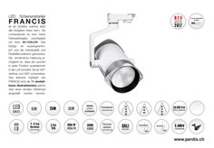 LED Schienenstrahler| perdix | ET Elektrotechnik 2 | Inserat 1 FEB 2017 Track Lighting, Ceiling Lights, Design, Home Decor, Engineering, Spot Lights, Decoration Home, Room Decor, Ceiling Lamp