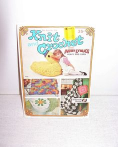 Vintage Aunt Lydia's Granny Star Book 218 American Thread Knit Crochet Patterns Flowers Pillows Toys Rugs Craft Supply - pinned by pin4etsy.com