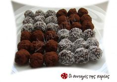 Greek Recipes, Dog Food Recipes, Greek Sweets, Biscuit Cookies, Happy Foods, Food For Thought, Cupcake Cakes, Cupcakes, Truffles