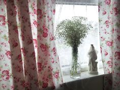 Window curtains Shabby chic curtains kitchen by clarashandmade