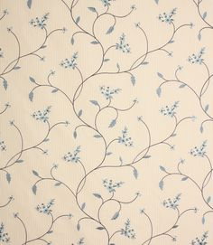 Pandora fabric is an embroidered polyester fabric on a beige striped background. The blue embroidery is really beautiful. This fabric is suitable for curtains and roman blinds. Buy online or from one of our large curtain fabric shops in Burford, Oxfordshire or Cheltenham, Gloucestershire.