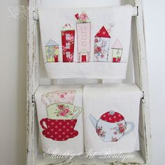 Shabby Art Boutique handmade tea towels 2