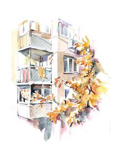 Ирина Кондрашова. Осень. Вид из окна