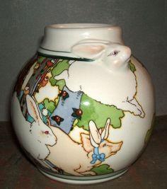 Rare Vintage Hallmark Limited Edition Bunny Rabbit Vase by amywren