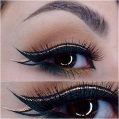 """""""I've been in such a funk lately. I didn't know what to do so I just did another simple graphic liner. It's actually green eyeliner but for some reason it…"""""""