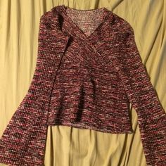 Komarov long sleeve pleated shirt Komarov long sleeve pleated shirt V neck and flowy sleeves at the wrist. Worn a handful of times great with jeans and boots Komarov Tops Blouses