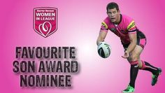 The NRL ran a comp to find the leagues favourite son as part of Women in League round.