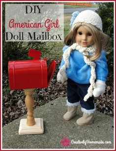 Does your little girl love American Girl dolls? Then they will love this DIY American Girl doll mailbox. Learn how to make one here!