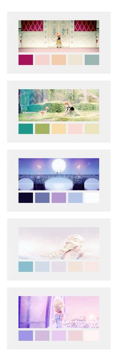 Frozen color palette