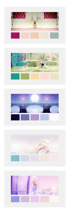 Frozen color palette