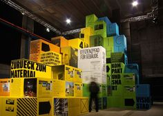 Stacked cube exhibition and trade show design #exhibition #architecture