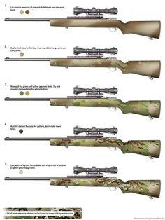 How to paint your gun Multicam (LOTS OF PICS DIALUP BEWARE) - Calguns.net