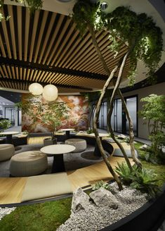 A Tour of Indeed's Biophilic Tokyo Office – Hair Styles – Best Office Architecture