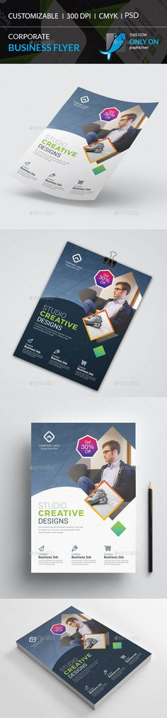 Buy Corporate Flyer by I-Getup on GraphicRiver. Corporate Flyer, Corporate Business, Creative Studio, Creative Design, Business Flyer Templates, Print Design, Flyers, Coaching, Promotion