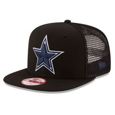 7115f69cfb2 Men s Dallas Cowboys New Era Black Trucker Tagged Original Fit 9FIFTY  Snapback Adjustable Hat