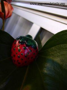 www.unpocodetodo.org - Broche de fresa - Broches - Silicona