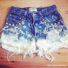 dip died studded shorts