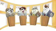 El proceso de elección del huevo presidente ha tenido su primer debate entre los hue-candidatos. Esta es la Parte 1
