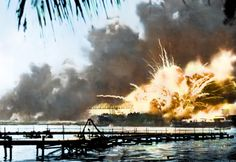 On December the Imperial Japanese Navy launched a surprise attack on the United States, bombing warships and military targets in Pearl Harbor. American Revolutionary War, American Civil War, American History, Pearl Harbour Attack, Colorized History, Ww2 History, Ancient History, Mind Blowing Pictures, Rare Historical Photos