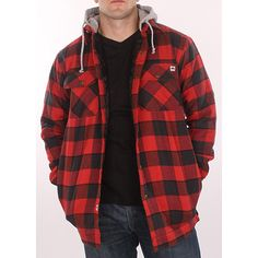 Get some country style in your wardrobe with this versatile red-plaid hooded flannel jacket. The quilted lining and drawstring hood provide protection from the cold while dual chest flap pockets and taped logo complete this wardrobe essential. Ahhh Ryan!