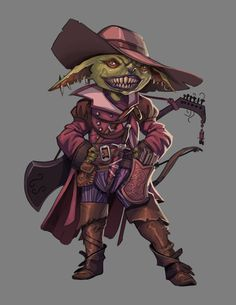 Goblin Swashbuckler Dungeons And Dragons Art, Dungeons And Dragons Characters, Dnd Characters, Fantasy Characters, Fantasy Character Design, Character Concept, Character Inspiration, Character Art, Fantasy Races