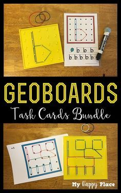 Perfect for morning tubs or centers, geoboard task cards keep kids busy and learning - bundle includes letters, numbers, shapes, and animals. Great for preschool, kindergarten, and first grade!