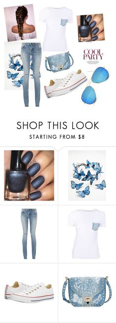 """Untitled #143"" by ak07 ❤ liked on Polyvore featuring Free People, Yves Saint Laurent, Helmut Lang, Converse, Valentino and Ray-Ban"