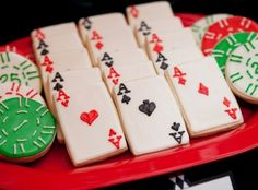 Poker cookies-so cute...for if we ever have a poker party!