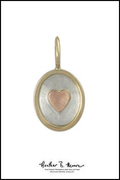 Heather B. Moore Silver & Gold Heart Charm, $320.00