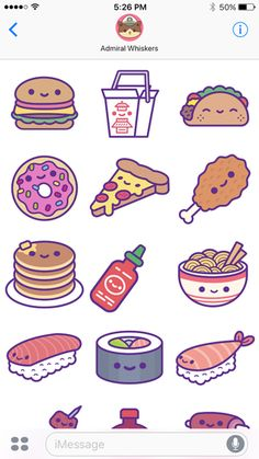 Kawaii Food Party Ios Stickers image ideas from Food Ideas Food Drawing Easy, Cute Food Drawings, Cute Animal Drawings Kawaii, Easy Drawings, Food Doodles, Kawaii Doodles, Kawaii Art, Stickers Kawaii, Cute Stickers