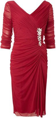 ShopStyle: Women's Adrianna Papell Evening Draped cocktail dress