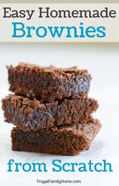 Easy Homemade Brownies Make homemade brownies from scratch these turn out so ch.Easy Homemade Brownies Make homemade brownies from scratch these turn out so chewy and fudge like. So yummy too. This fudge brown recipe makes a pan of 913 brownie r Fudge Brownies, Cheesecake Brownies, Brownies Caramel, Best Brownies, Chocolate Brownies, Cheesecake Recipes, Baking Brownies, Lemon Brownies, Homemade Cheesecake
