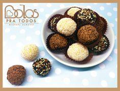 Brigadeiros de Chocolate Belga - Bolos Pra Todos bolospratodos@gmail.com