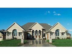Eplans Mediterranean House Plan - European Manor - 4457 Square Feet and 4 Bedrooms from Eplans - House Plan Code HWEPL11606 ~ This is our Dream Home! #praying4theblessing