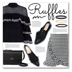 """""""ruffles"""" by myduza-and-koteczka ❤ liked on Polyvore featuring Kate Spade, Chicwish, self-portrait, Anja and Accessorize"""