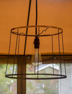 repurposed vintage lampshade  http://frozenmtdew.blogspot.com/
