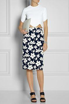 Marni Floral-Print Gauze Pencil Skirt, $620, available at Net-A-Porter.
