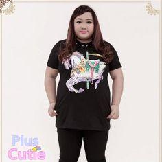 """#spreepicky #pluscutie #plussizeT-shirt #T-shirt #short-sleeve #white-horse #freeship  Free Shipping Worldwide  Material: Cotton  Color: Black  Pattern: Rivets  Size:  L/XL/XXL/XXXL/XXXXL  L: Length:77.5cm/30.45""""   Bust:96.6cm/37.96""""  Waist:89cm/34.97""""   Bottom Width:114.4cm/44.95""""   Shoulder:36.8cm/14.46""""  Armpit:44.5cm/17.48""""  Sleeve Length:19cm/7.46""""  Sleeve Opening:30..."""