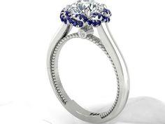 Braided Halo Diamond Rings, Wedding Traditional Ring, Women's Modern Ring. - Custom made Engagement Rings