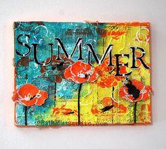 Scrapbooking Collage zum Sommer von Nathalie Kalbach #wohnkiste
