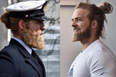 People Are Loving This Dashing Naval Officer And His Luscious Locks