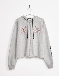 Zipped jacket with patches and embroidery - New - Bershka France