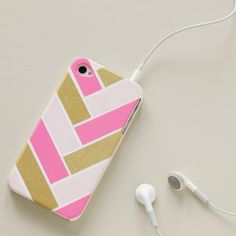 Washi tape phone cover DIY