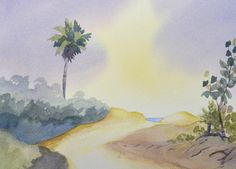 In this watercolor video tutorial P.J. Cook demonstrates how to paint a soft, glowing sky that is quick and easy. Follow along step by step in this painting lesson video how to paint using a wet into wet technique using 4 colors. The following four colors were used in this painting: naples yellow, french ultramarine, …