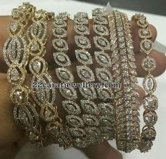 Classic Diamond Bangles - Jewellery Designs
