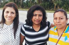 Attorney Victoria Mesa (left) with Ligia Martinez and Sandra Lopez, two former Moreno Farms workers who sued over rape and sexual harassment. #farmworkers #sexualassault