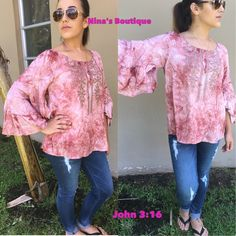 sale🎉 flowy tie dye tops Gorgeous tie dye top has slit ruffled sleeves and features a beautiful embroidery. Price is firm unless bundled. S(2/4) M(6/8) L(10/12) Tops
