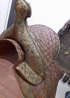 Coronation saddle of Stanisław Leszczyński by Anonymous from Poland, ca. 1705, Polish Army Museum in Warsaw. Purchased in 1920 by the Polish Army Museum from the Dresden Armoury (Rüstkammer). The saddle was prepared for Stanisław Leszczyński's entry for coronation in Warsaw in 1705. #coronation #saddle #polisharmymuseum #leszczynski #poland #warsaw #artinpl #silverthread #velvet #wood #giltonsilver #leather #rustkammer #dresden Commonwealth, Warsaw, Dresden, Anonymous, Poland, Army, Museum, Velvet, Statue